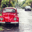 Red retro car — Stock Photo #23062914