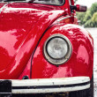 Stock Photo: Red retro car on the street