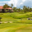 The hotel and golf course — Stockfoto