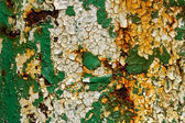 Texture of cracked yellow green paint in high definition — Stock Photo