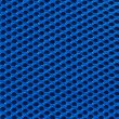 Blue fabric texture with holes in high resolution — Stock Photo