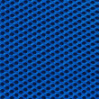 Stock Photo: Blue fabric texture with holes in high resolution
