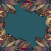 矢量复古花卉图案 — 图库矢量图片