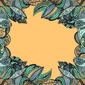 Vector vintage floral pattern — Stock Vector