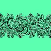 Patrón floral vintage vector — Vector de stock