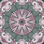 vektor cirkel mönster med Marina invånare — Stockvektor