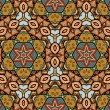 Seamless Abstract Pattern with marine inhabitants — Stockvektor