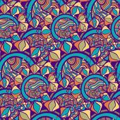 Vintage floral seamless pattern. Vector. — Stock Vector
