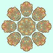 Декоративные кружевной узор. круг. — Cтоковый вектор