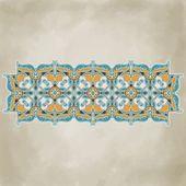 ヴィンテージの装飾用の花のテンプレート — ストックベクタ