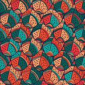 羽のシームレスなパターン — ストックベクタ