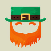 Irish St. Patricks Day leprechaun icon — Stock Vector