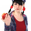 Royalty-Free Stock Photo: Girl Eating Apple