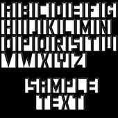 Soyut font tasarımı — Stok Vektör