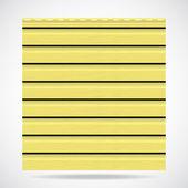 Ytterväggar textur citron-panelen färg — Stockvektor