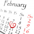 February - St. Valentine's Day — Stock Photo