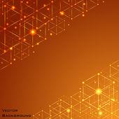オレンジ色の抽象的なベクトルの背景。ベクトル. — ストックベクタ