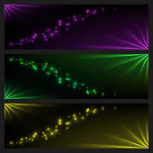 Set of vector being shone banners — Stock vektor
