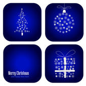 Vector christmas decoration card — Vecteur