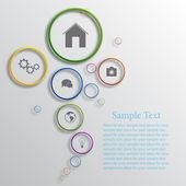 Vector infographic background design — Stock Vector