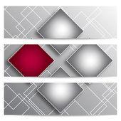 抽象矢量旗帜与正方形 — 图库矢量图片