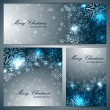 Set of christmas banners with snowflakes — Stock Vector