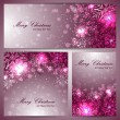 Set of beautiful christmas banners with snowflakes — Stock Vector