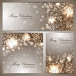 Set of three christmas banners with snowflakes — Stock Vector