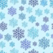 Texture with color snowflakes — Stock vektor