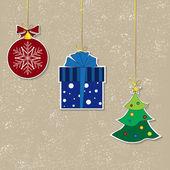 старинные рождественские фоны — Cтоковый вектор