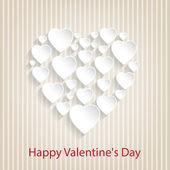 Congratulation card with hearts — Stock Vector