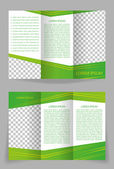 Vector brochure template design with abstract green elements — Stock Vector