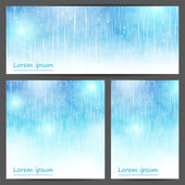 Set of abstract light blue banners — Stock Vector