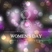 Beautiful background for Women's Day — Stock Vector