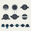 Set of vintage vector labels — Stock Vector