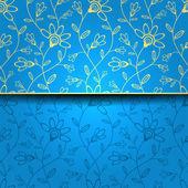 Carte de voeux abstrait, fond avec fleurs décoratives — Vecteur