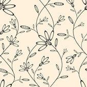 Abstract seamless wallpaper with floral pattern — Vector de stock