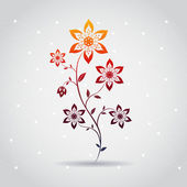 Abstrakt färgglada sammansättning med ovanlig blomma — Stockvektor