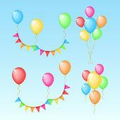 набор элементов цвета для дня рождения — Cтоковый вектор