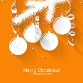 Christmas gift card with flat elements — Stockvector