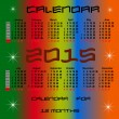 Calendar for 2015 year — Stockvectorbeeld