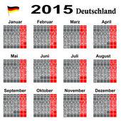 Kalender binnen 2015 Jahrs. — Stock Vector