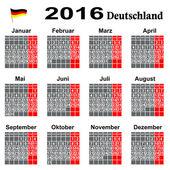 Kalender binnen 2016 Jahrs. — Stock Vector