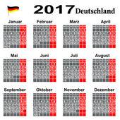 Kalender binnen 2014 Jahrs. — Stock Vector