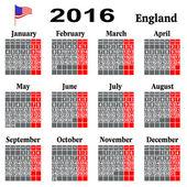 Calendar for 2016 year. — Stock Vector