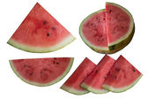 Water-melon on a white background. — Stock Photo
