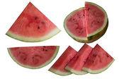 Water-meloen op een witte achtergrond. — Stockfoto