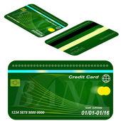 Carta di credito. — Vettoriale Stock