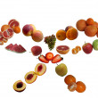 Stock Photo: Fruits collection.