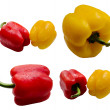 Bell peppers with water droplets. — Stock Photo